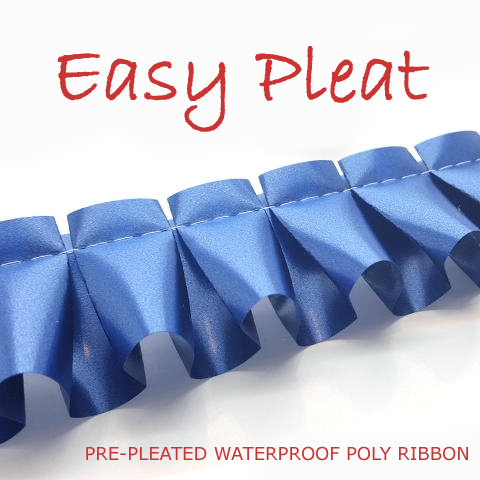 Pre-Pleated Poly Ribbons