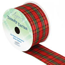 Tartan, Xmas & Love Hearts Ribbon