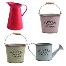 Zinc Coloured Jugs & Buckets