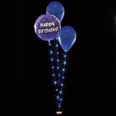 Balloon Lites - Blue Triple Light Set