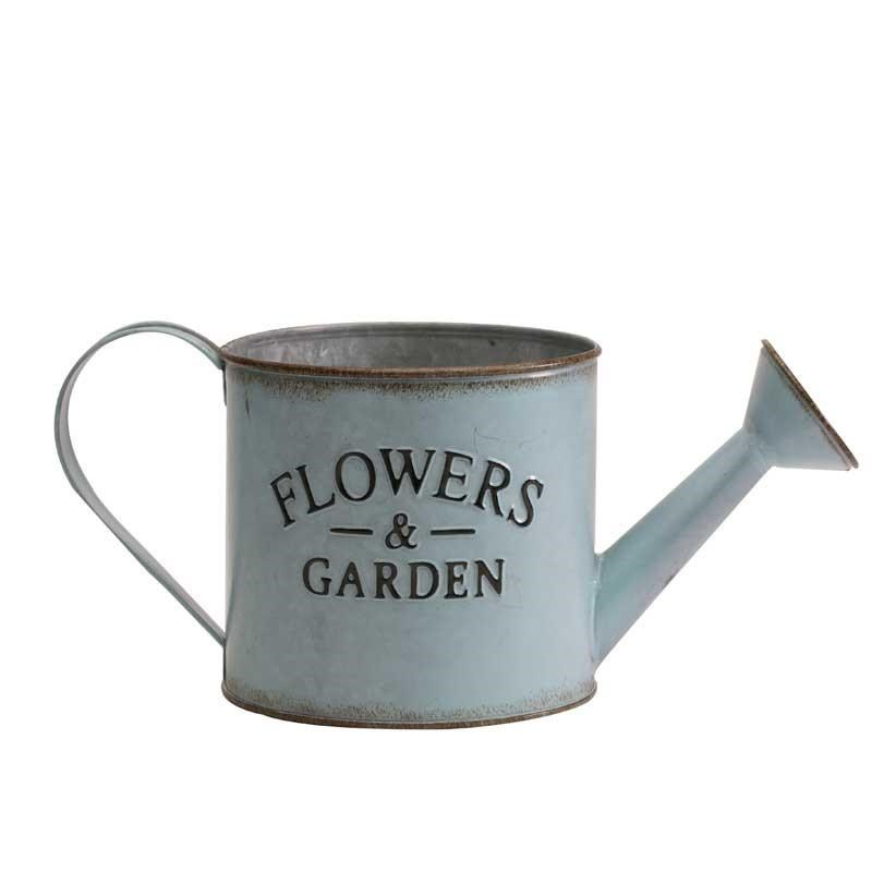 Zinc Watering Can - Blue