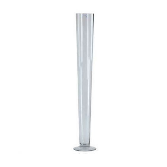 Glass Conical Vase - 80cm