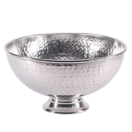 Punch Bowl - Dimpled Shiny Silver