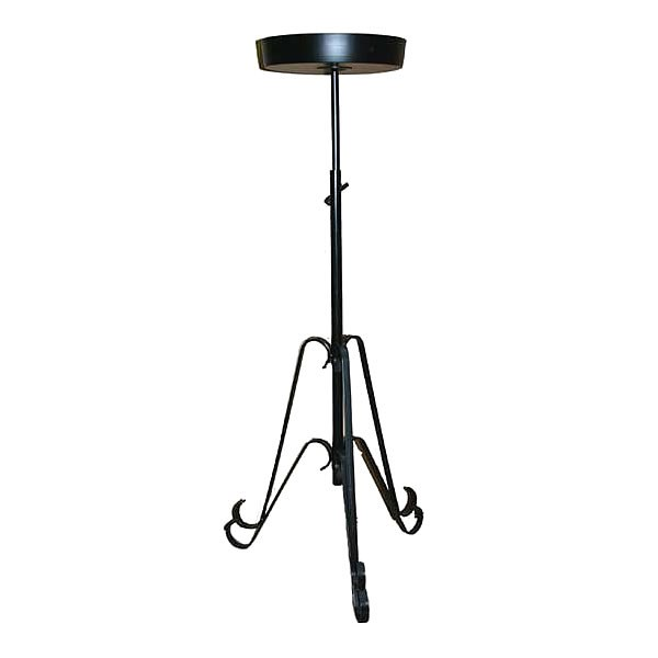 Pedestal Stand - Black Telescopic Bowl Top
