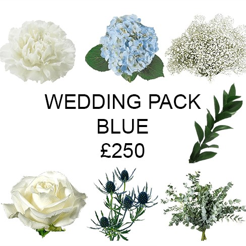 Wedding Flower Pack Blue £250