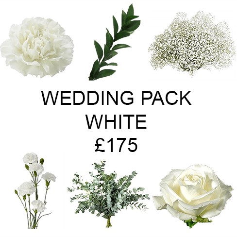 Wedding Flower Pack White £175