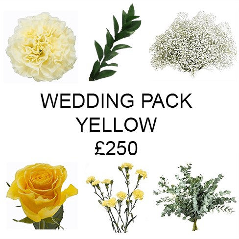 Wedding Flower Pack Yellow £250