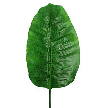 Artificial banana leaf with raindrops wholesale silk for Artificial banana leaves decoration