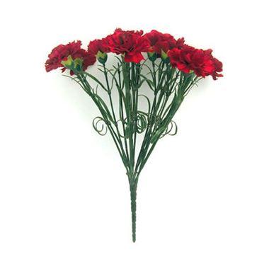 Artificial carnation bush red wholesale silk flowers florist artificial carnation bush red mightylinksfo