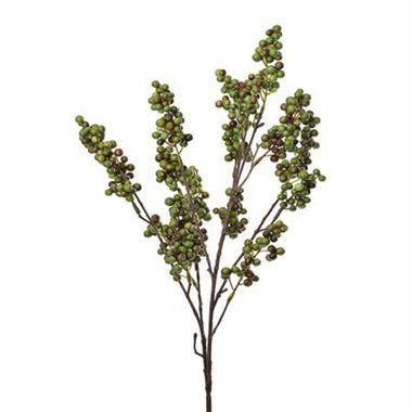 Artificial Berry Spray Green Wholesale Silk Flowers Florist Supplies Uk