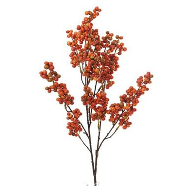 Artificial berry spray orange wholesale silk flowers florist artificial berry spray orange mightylinksfo