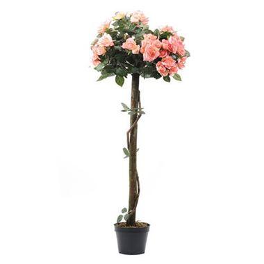 Artificial pink rose tree 120cm wholesale silk flowers florist artificial pink rose tree 4 mightylinksfo