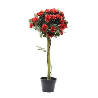 Artificial red rose tree 90cm wholesale silk flowers florist artificial red rose tree 3 mightylinksfo
