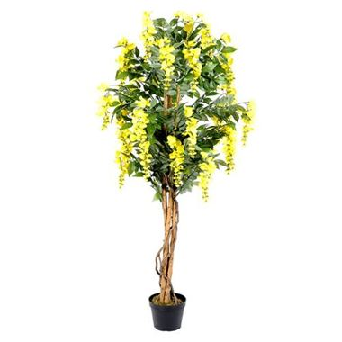 Artificial Wisteria Tree Yellow Wholesale Silk Flowers