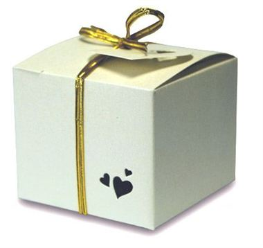 Favour Box - Square Pearl Ivory