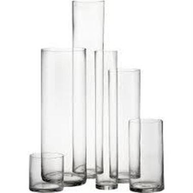 Glass Cylinder Vase 19x45cm Florist Supplies Triangle Nursery
