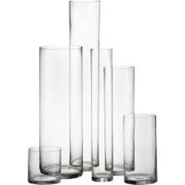 Glass Cylinder Vase 40x10cm Florist Supplies Triangle