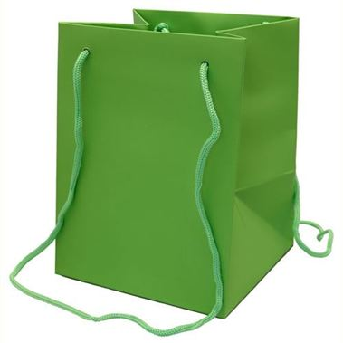Hand Tied Gift Bag Large - Lime 19x25cm