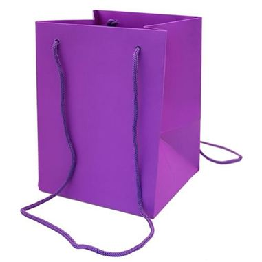 Hand Tied Gift Bag Large - Purple 19x25cm