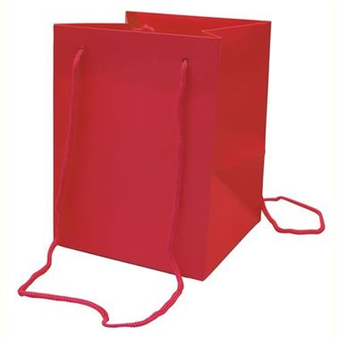 Hand Tied Gift Bag Large - Red 19x25cm
