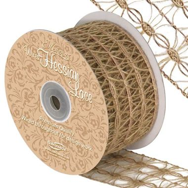 Ribbon Hessian Lace - 50mm