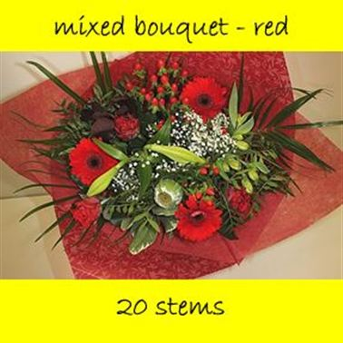 Bouquet Mixed Red - 20 stems