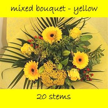 Bouquet Mixed Yellow - 20 stems