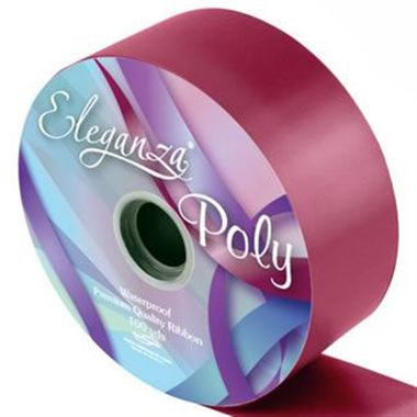 Ribbon Poly - Burgundy