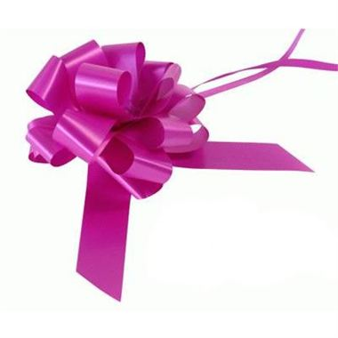 Ribbon Pull Bows Fucshia - 30mm -