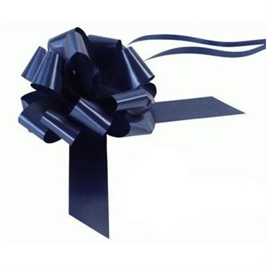 Ribbon Pull Bows Navy Blue - 30mm