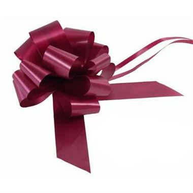 Ribbon Pull Bows Burgundy - 50mm