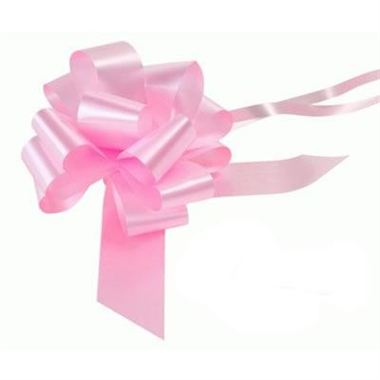 Ribbon Pull Bows Light Pink - 50mm