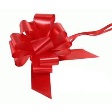 Ribbon Pull Bows Red - 50mm