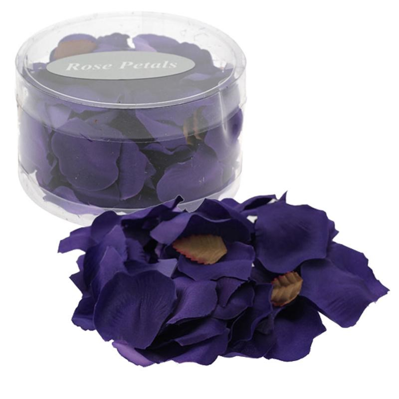 Silk Rose Petals - Purple