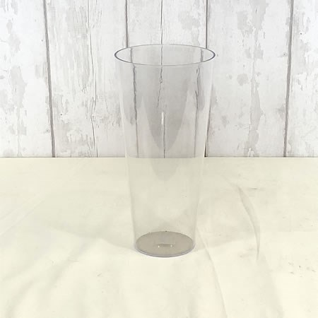 Acrylic Conical Vase Clear 35cm