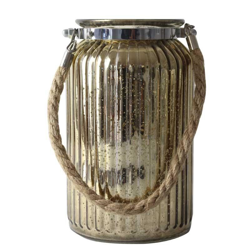 Glass Jar Antique Gold (Large)
