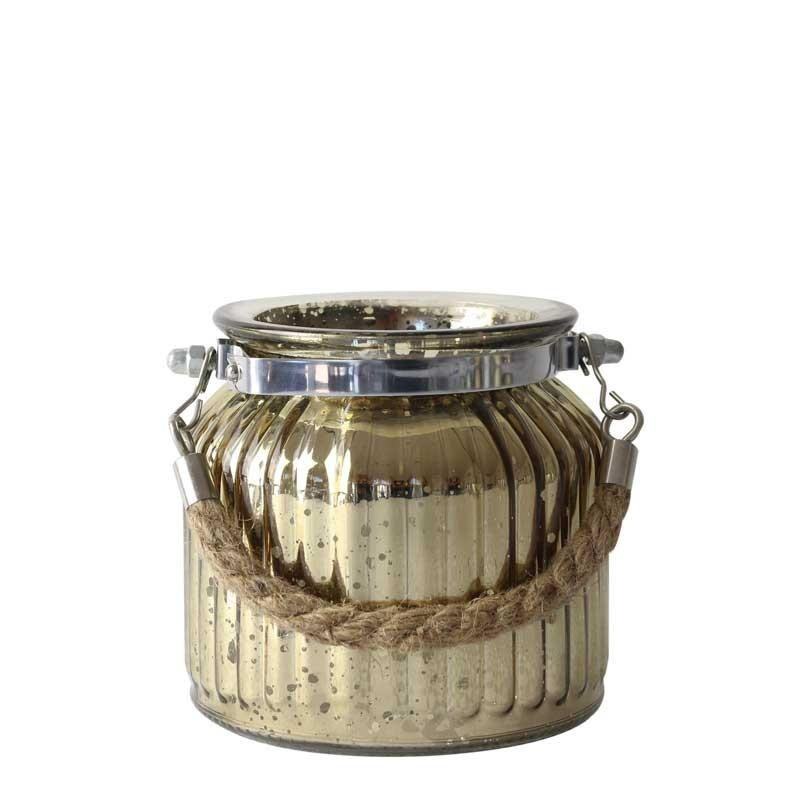 Glass Jar Antique Gold (Small)
