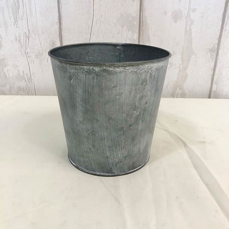 Antique Zinc Pot with Whitewash 15cm