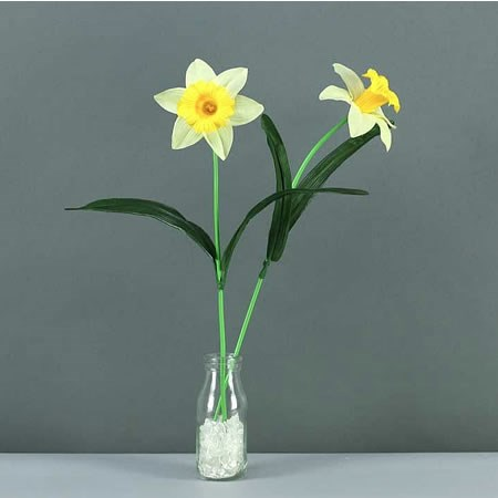 Artificial Daffodil Spray With Leaves