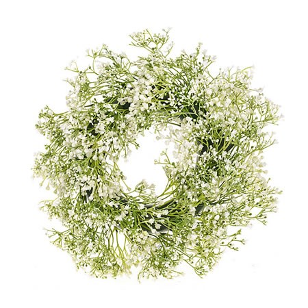 Artificial Gypsophila Wreath 20cm