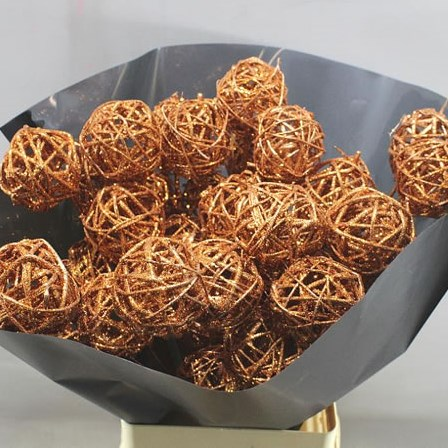BRUNCH BALL STEMS - COPPER GLITTER