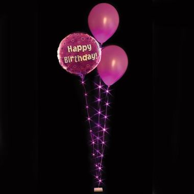 Balloon Lites - Fucshia Triple Light Set