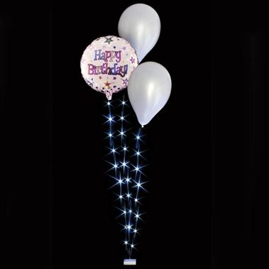 Balloon Lites - White Triple Light Set