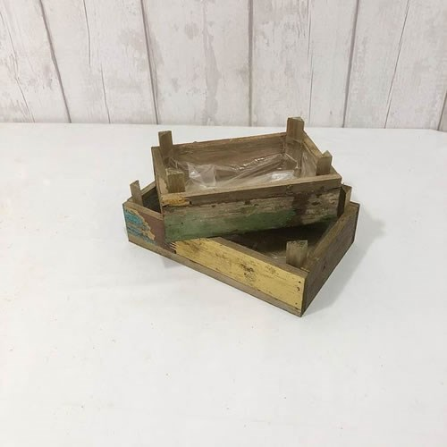 Barnwood Crates (set of 2)