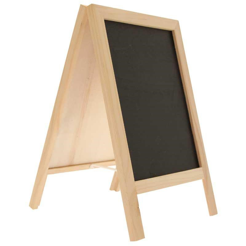 Blackboard Easel Large Natural (Double Sided)