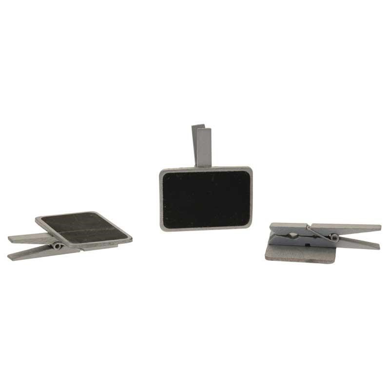 Blackboards on Pegs Silver (3 Pack)