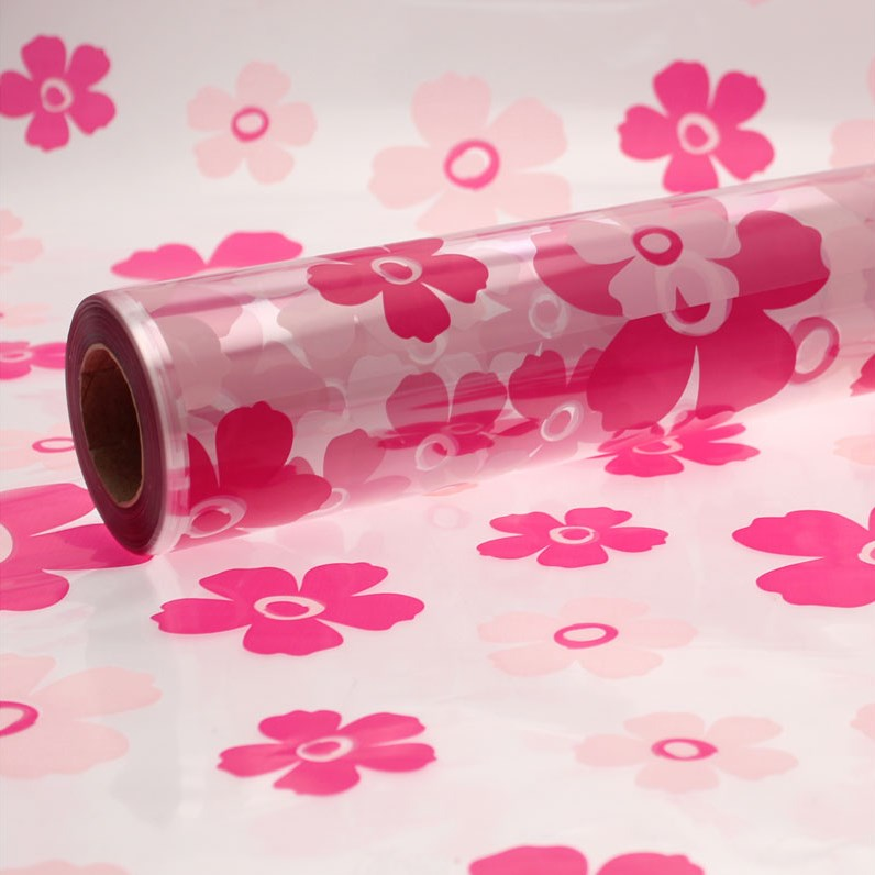 Cellophane Roll - Hot Pink Fleur