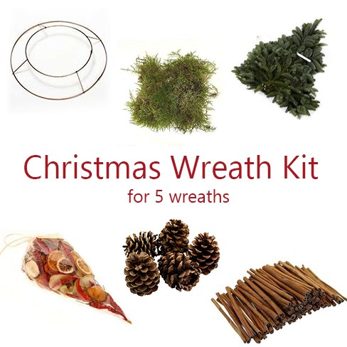 Christmas Wreath Kit for 5