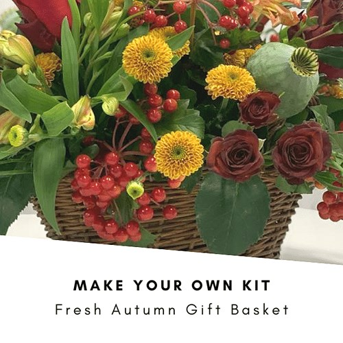 DIY Fresh Autumn Basket Kit £30 (Inc VAT)