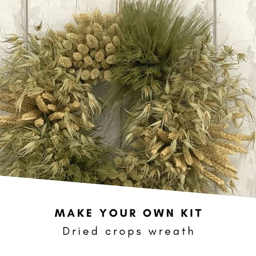 Make Your Own Dried Crops Wreath Kit